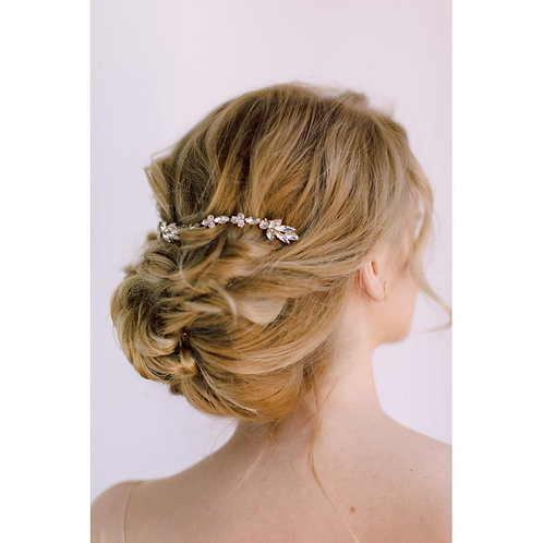 AVALON Crystal Bridal Double Antique Gold Hair Comb