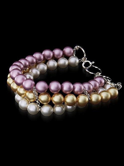 ROSALIN Swarovski Triple Strand Pearl Bracelet