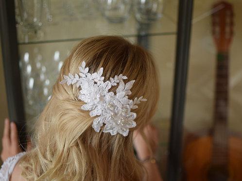 COCO Vintage Embellished Appliqué Swarovski Pearls Wedding Hair Comb Style