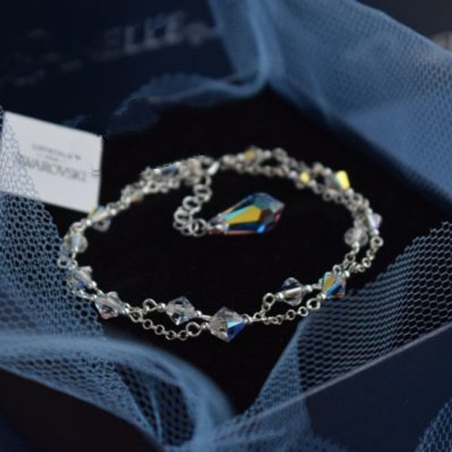 CLASSIC Graceful Swarovski AB Double Chain Crystal Bracelet