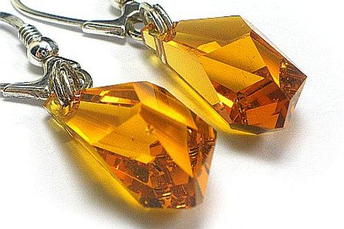 TOPAZ Silver Crystal Swarovski Earrings