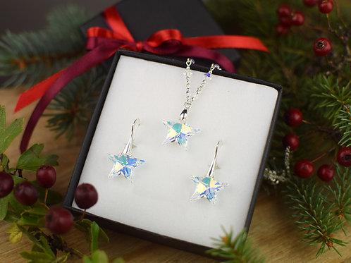 STARS Magic Swarovski Aurora Borealis Crystal Earrings