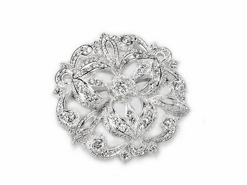 FLORAL Brooch with Crystals