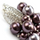 Thumbnail: ROSALIA Heather Ombre with Mauve & Satin Grey Swarovski Pearl Earrings