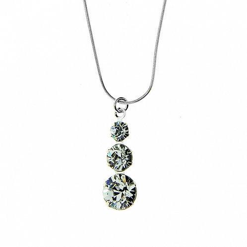 CRYSTAL Transparent Swarovski Wedding Necklace