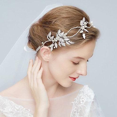 FLEUR Crystal Bridal Headpiece 1920's Style