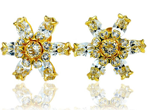 CRYSTAL Azure Gold Swarovski Earrings