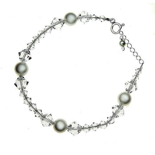 ELLY Pearl Crystal Swarovski Bracelet
