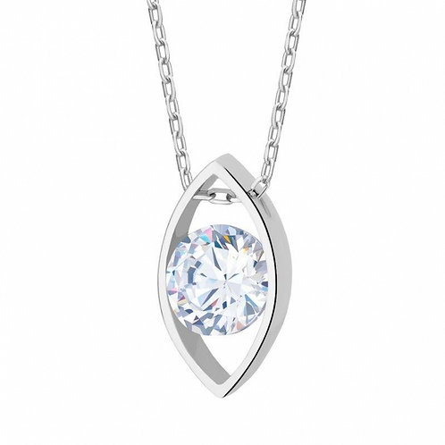 ARYA Floating Romantic Cubic Zirconia Crystal Necklace