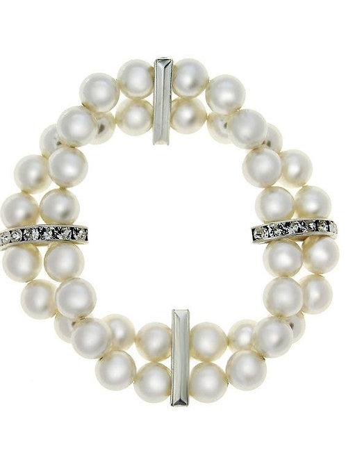 ALLY Swarovski Double Row Pearl Bracelet