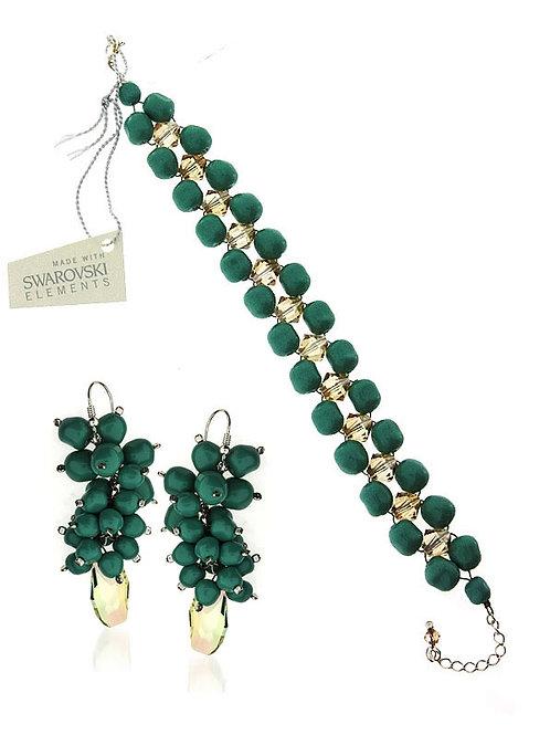 EVITA Swarovski Crystal Bracelet & Earring Set