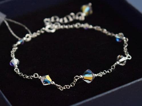CLASSIC Graceful Swarovski Aurora Borealis Crystal Bracelet