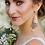 Thumbnail: ANNABELLE Modern Vintage White Pearl & Crystal Swarovski Silver Earrings