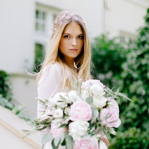LYRIC Bridal Headband - Vine with White Pearls