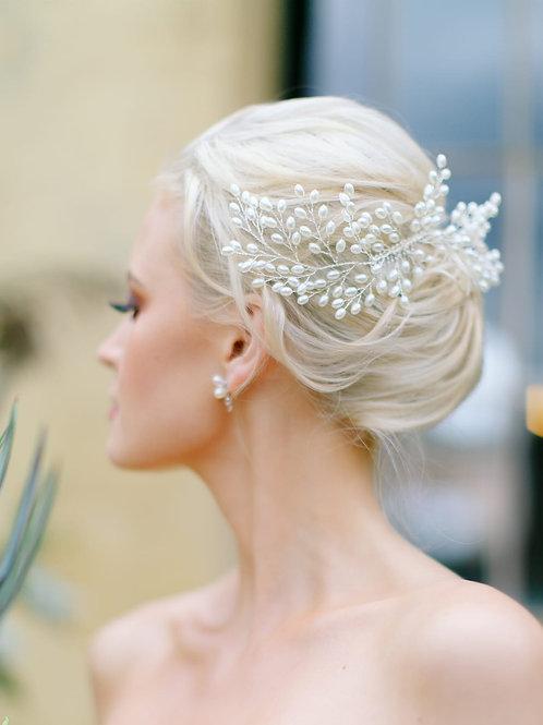 LEONA Classic Pearl Bridal Hair Comb