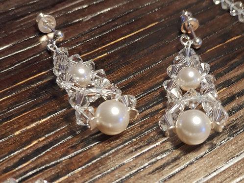 VANESSA Swarovski Pearl Crystal Earrings