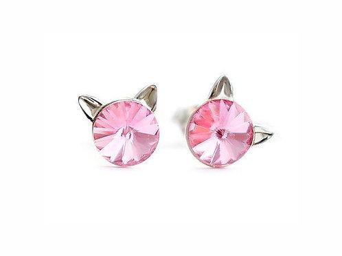 KITTY Light Rose Rivoli Swarovski 0.6 cm Earrings