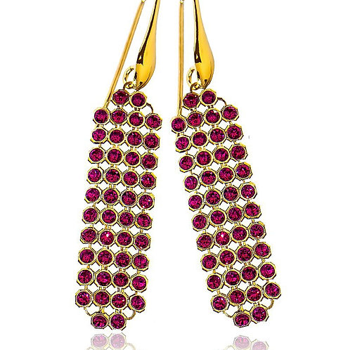 RUBY Gold-plated Crystal Swarovski Earrings