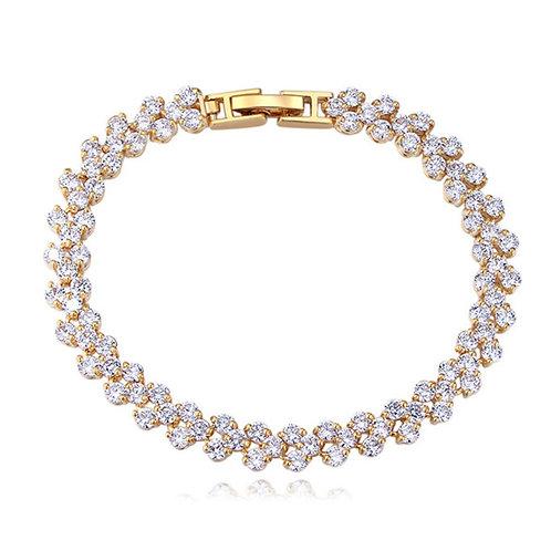 SELENA Gold Bracelet with Cubic Zirconia
