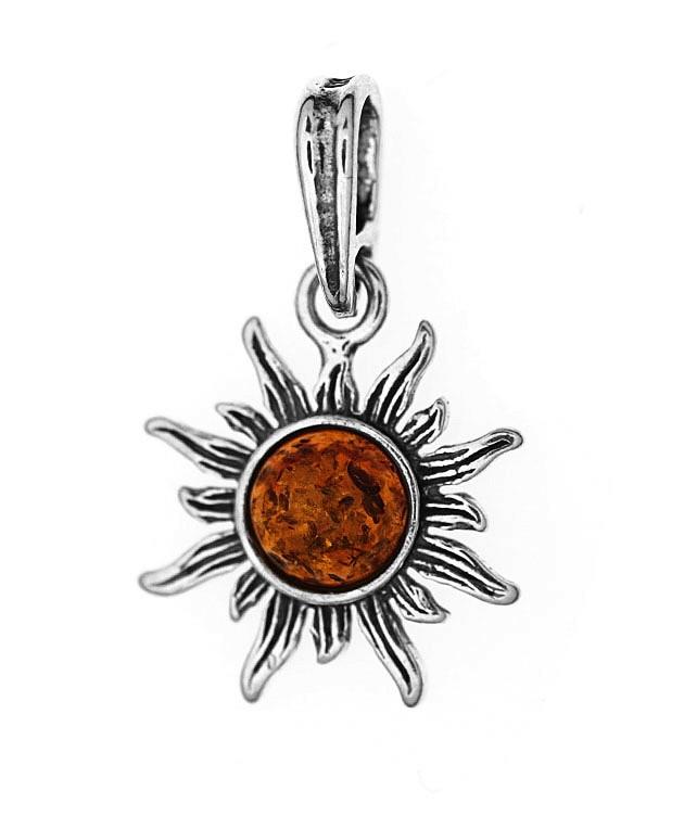 AMBER SUNSHINE Silver Pendant