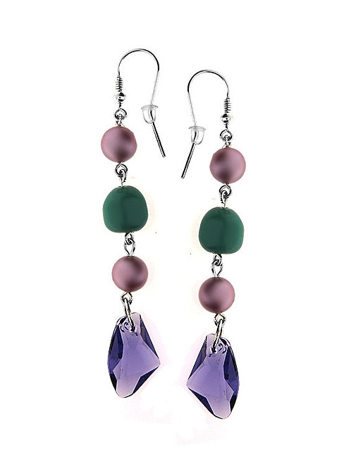VIOLE Swarovski Multicolor Pearl Crystal Turquoise Earrings
