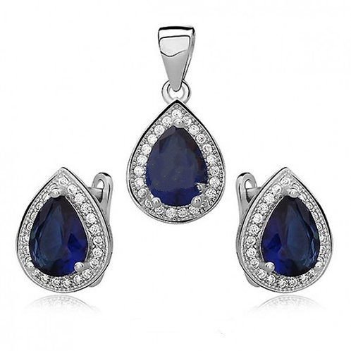 MARQUISE Sapphire Silver Set