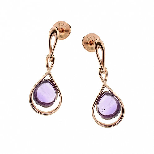 Amethyst Gold-plated Stlish Earrings