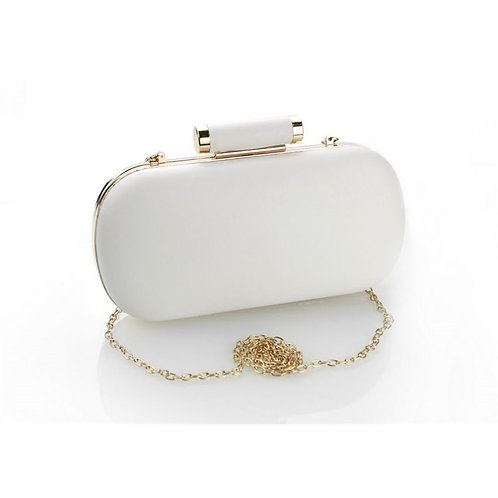 BROOKLYN White ECO Leather Compact Box Bag