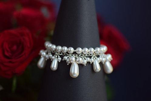 ROSALIA White Pearl Swarovski Bracelet