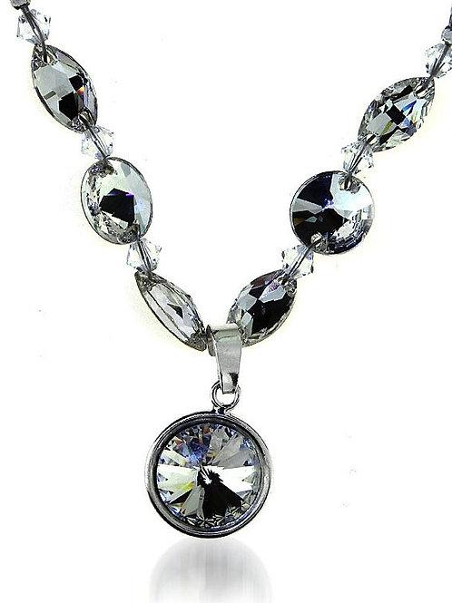 CLARA Round Crystal Swarovski Necklace