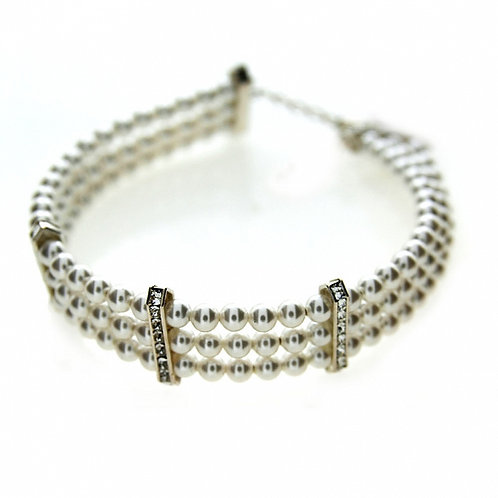 MONROE Swarovski Triple Strand Pearl Bracelet