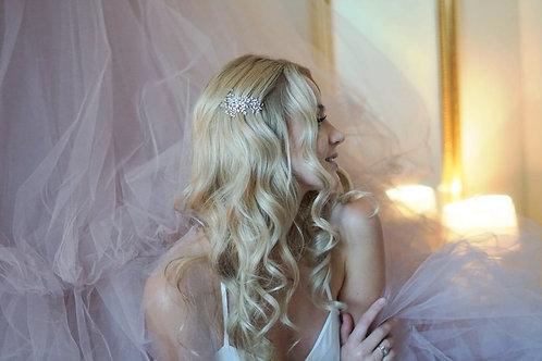 TABITHA Boho Style Crystal Bridal Hair Comb