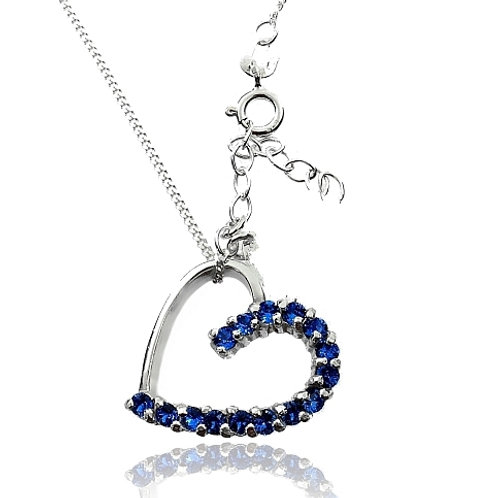 SAPPHIRE Heart Swarovski Necklace