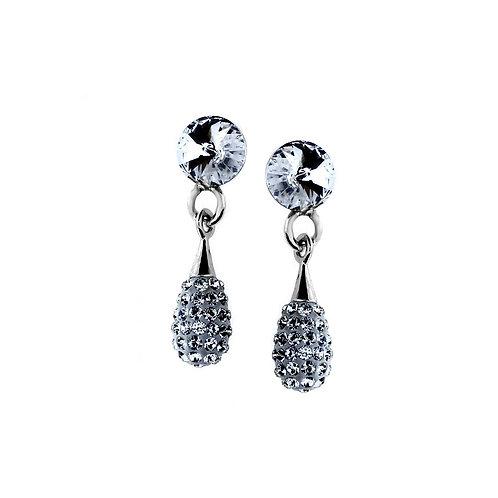 LILLY Swarovski Crystal Silver Earrings