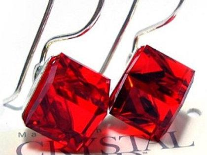 CUBE Swarovski Red Crystal Set