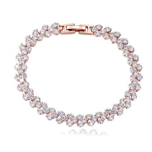 SELENA Rose Gold Bracelet with Cubic Zirconia