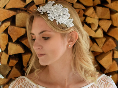 COCO Vintage Embellished Appliqué Wedding Headband