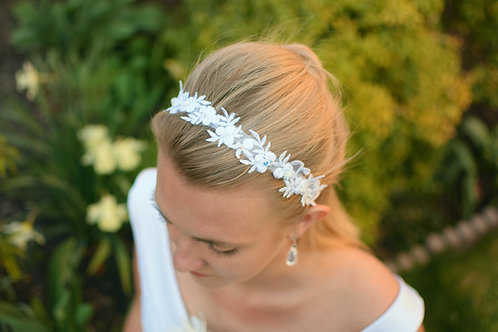 AURORA Embellished Appliqué Swarovski Wedding / Communion Headband