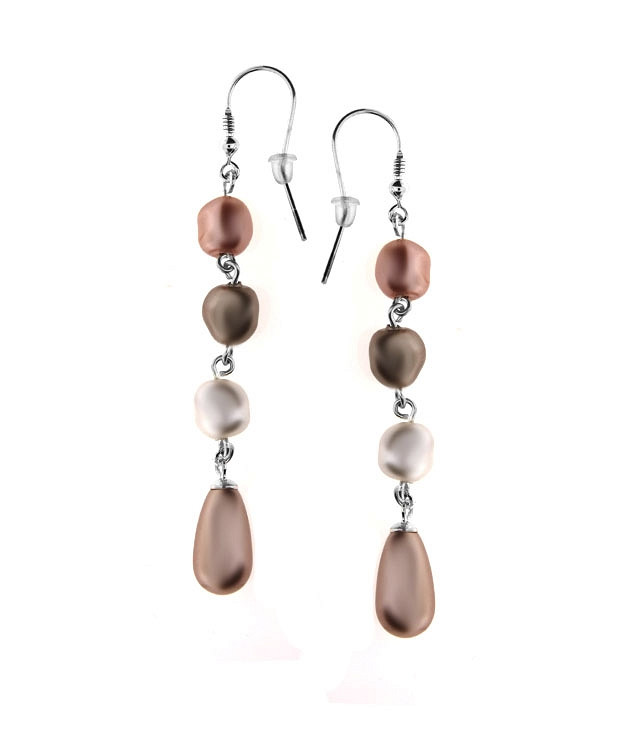 MOLLY Swarovski Multicolor Pearl Earrings