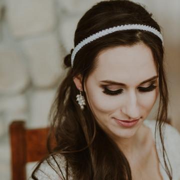 CHARLOTTE Delicate White Beaded Wedding