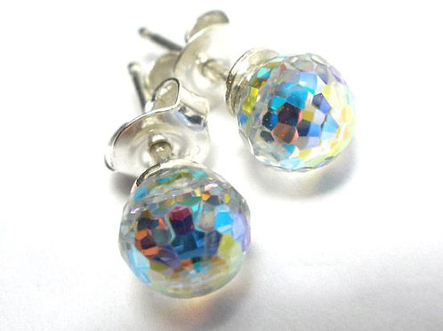 AURORA Borealis Swarovski Classic Crystal Small Stud Earrings