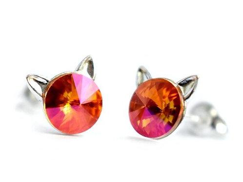 KITTY Astral Pink Rivoli Swarovski 0.6 cm Earrings