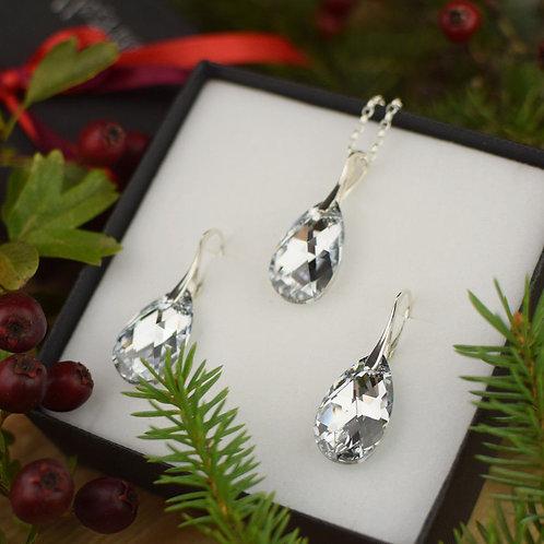 ICECOMET Swarovski Crystal Argent Pendant / Necklace