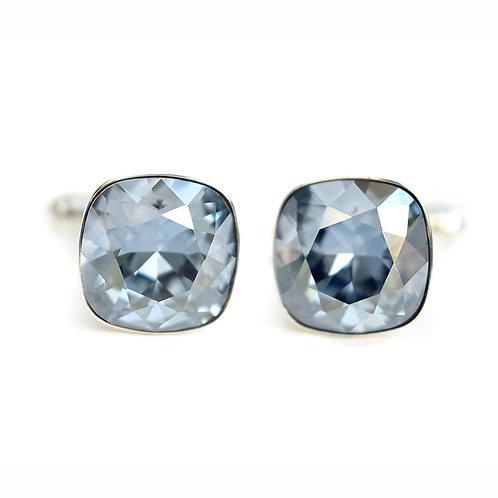 OLIVIER Blue Shade Square Cushion Cut Wedding Swarovski Crystal Cufflinks