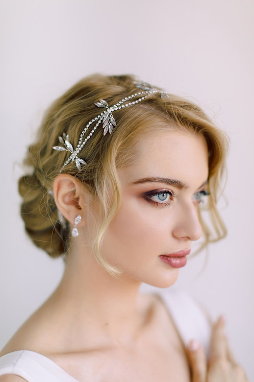 CYRENE 1920' Classic Bridal Headband with Crystals