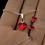 Thumbnail: LOVELY Heart Swarovski Light Siam Crystal Set