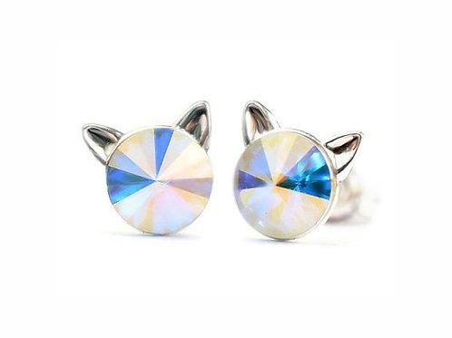 KITTY Aurora Borealis Rivoli Swarovski 0.6 cm Earrings