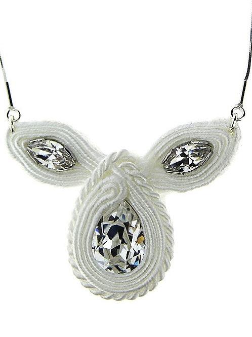 SOUTACHE Vintage Crystal Swarovski Bridal Necklace