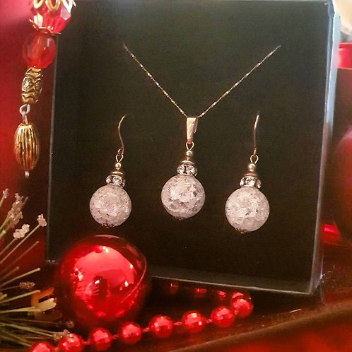 CRYSTAL Balls with Rhinestone and Cubic Zirconia Set