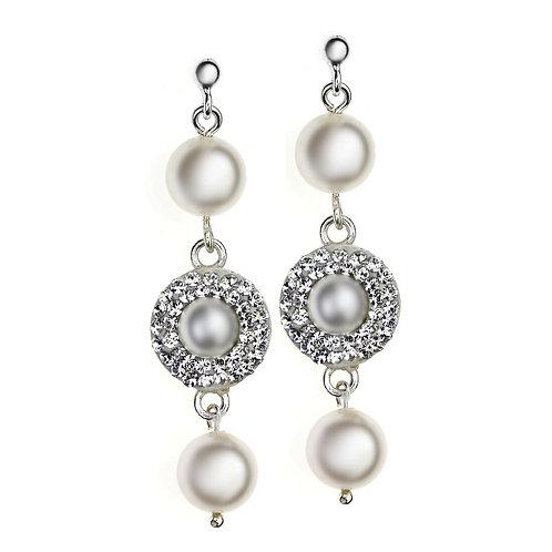 NOEMI Swarovski Ecru Pearl Earrings